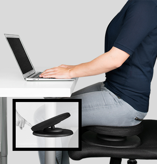 Active sitting train your core and posture at work