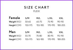Swedish Posture Flexi Size Guide