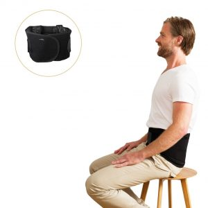 Wearing the posture lumbar support